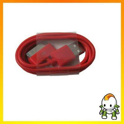 USB-Daten- und Ladekabel für iPhone, iPod & iPad - rot
